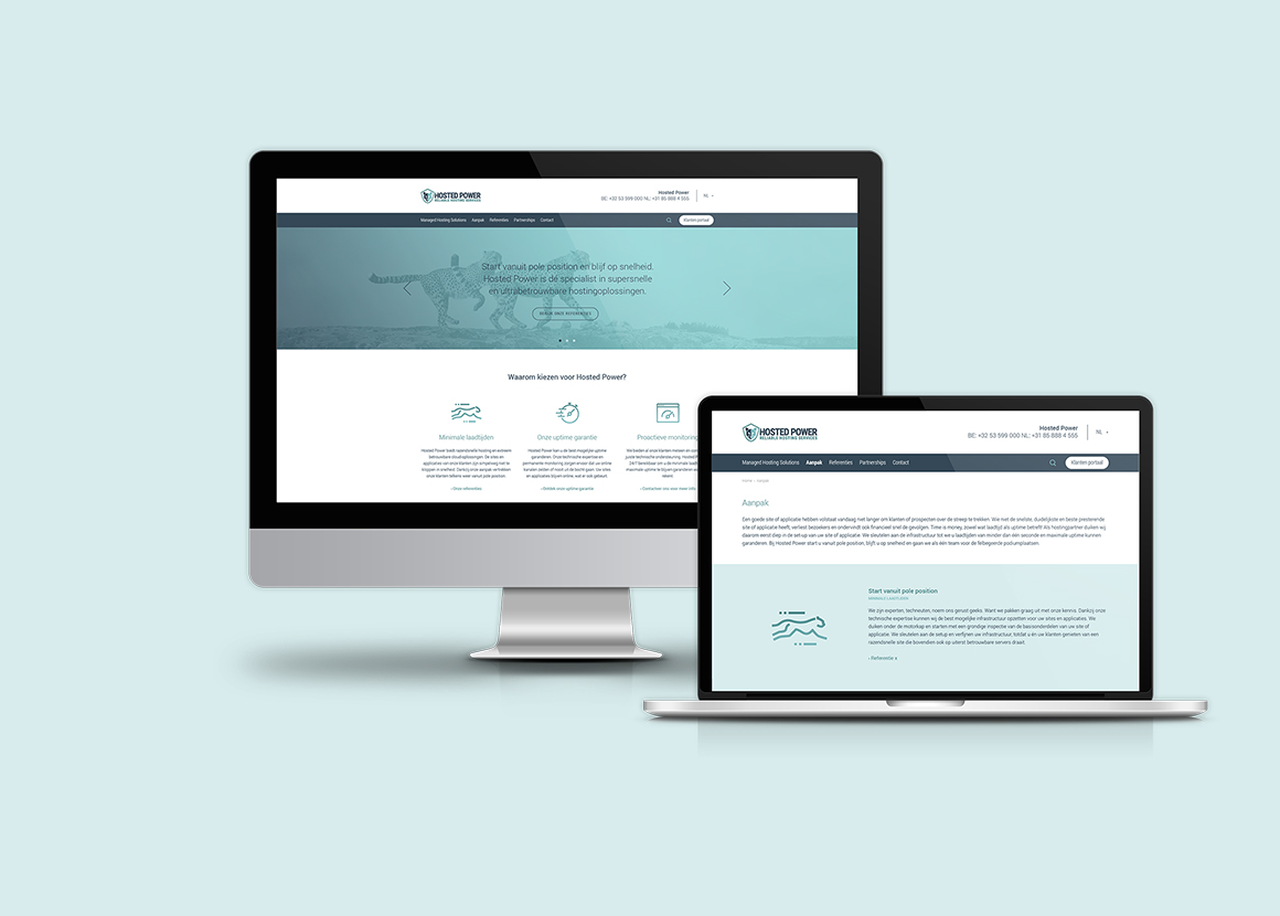 Hosted Power website